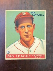 1933 Goudey  #139 Ben Cantwell