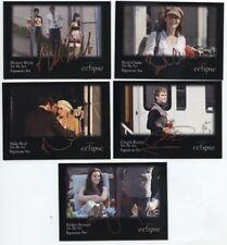 "Twilight Eclipse ""On the Set"" Signature Card Set (# 11 thru15 )"