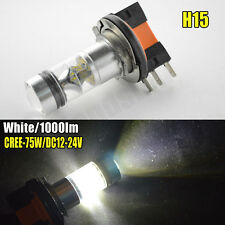 2X CANBUS H15 CREE 75W LED Bulb Car DRL Daytime Driving Fog Lamp 1000LM 12V 24V