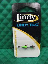 Lindy Bug Ice Jig Black Chartreuse Green #12 LBL1236