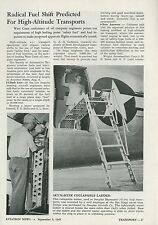 1945 Aviation Article Douglas Aircraft C-54 Skymaster Collapsible Ladder