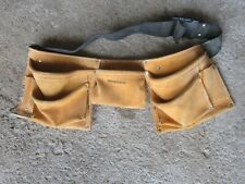 WorkForce Leather Tool Belt Carpenter's Work Apron Pocket Pouch, Electrician