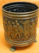 ANTIQUE HAND EMBOSSED COPPER BIN MADE IN BELGIUM
