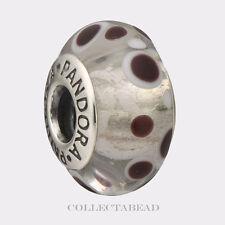 Authentic Pandora Sterling Silver Murano White Bubbles Bead 790692