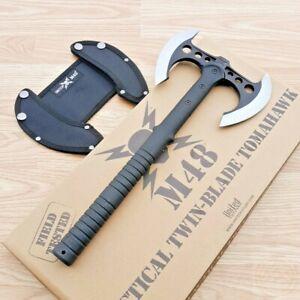 "United Cutlery M48 Tactical Tomahawk 7.5"" Axe Head Double Blade Black FRN Handle"