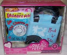 """Our Generation Rock And Tote With Records Set for 18"""" Dolls New"""