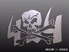 4x4 SKULL -- Metal Off Road Garage Sign 4WD Monster Truck Shop Lifted Mud Bogger