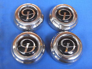 DAIMLER CHROME HUB CAPS SET FOR KENT ALLOYS DAIMLER XJ6 & XJ12 CAC9820COMD