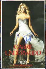 Carrie Underwood autographed live show poster 2014