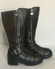 Harley Davidson Women's  Knee High Boots Olive Green Size 9 M