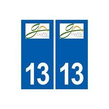 13 Gignac-la-Nerthe logo ville autocollant plaque sticker arrondis