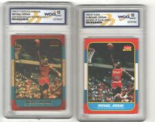 (2) 1996 FLEER DECADE and POLYCHROME GOLD JORDAN 1986 #57 WCG 10 GEM psa 9