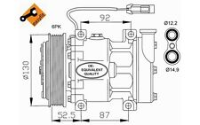 NRF Compresor, aire acondicionado FIAT STILO ALFA ROMEO 166 145 GTV LANCIA 32113