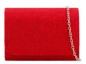 Women Glitter Clutch Bag Ladies Evening Wedding Handbag Party Prom H2224