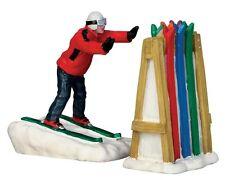 LEMAX Ski Rack Desaster / Weihnachtsdorf Winterdorf Modellbau