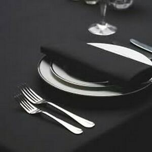 """BLACK COTTON FEEL POLYESTER CATERING RESTAURANT QUALITY NAPKINS SIZE 20x20"""""""