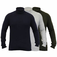 Mens Jumper Threadbare Knitted Sweater Turtle Polo Neck Pullover Top Winter New
