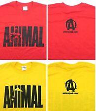 Universal Nutrition Animal Pak TEE SHIRT Bodybuilding T Shirt RED or YELLOW