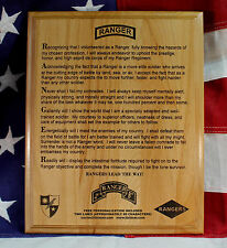 75th Ranger Regiment Creed Plaque, Personalized, 1st, 2nd, 3rd, Battalion, gift