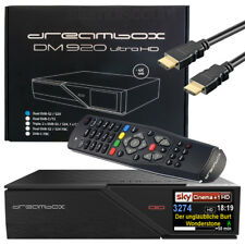 Dreambox DM 920 UHD 4k RECEPTOR 2x dvb-s2x 1xdvb-c/T2 TRIPLE multistream