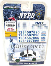 GREENLIGHT 42822 2011 FORD CROWN VICTORIA INTERCEPTOR NYPD POLICE CAR 1/64 Chase