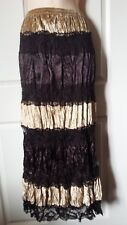 Brown's & Lace Size Large Tiered Women's Ladies Midi Skirt NWOT