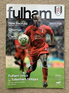 Fulham v Tottenham Hotspur - Barclaycard Premiership 2003/2004 Programme