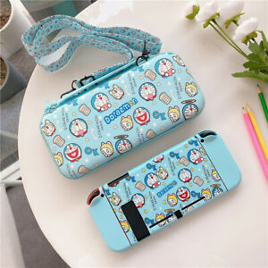 Cute Cartoon Doraemon Travel Bag Carrying Case Cover for Nintendo Switch Pouch