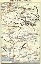 España. Sierra Nevada 1929 cuadro de plan de Mapa Antiguo Vintage