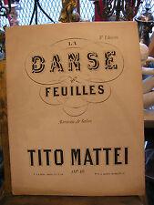 Partitura Danza des hojas de Tito Mattei para Piano