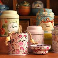 Flower Design Metal Sugar Coffee Tea Tin Jar Container Candy Sealed Cans BoKRFS