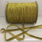 "New 5 yard 3/8""10mm Sparkle Glitter Velvet Ribbon Headband DIY Craft supplies#21"