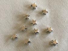 50 encantador pequeño Estrella de Plata Tibetana Espaciador Perlas Cuentas 6mm