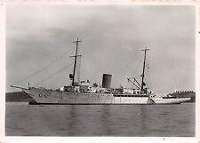 """Kriegsschiff und eine Staats-Yacht Aviso """" Grille """" Foto Postkarte"""