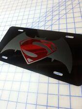 BATMAN VS SUPERMAN CUSTOM LICENSE PLATE