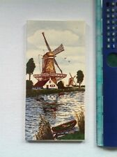 Vintage Delft Windmill Tile, Made in W. Germany