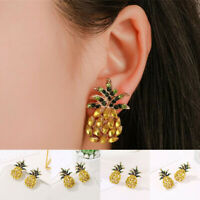 Fashion Women Pineapple Crystal Rhinestone Stud Drop Dangle Earrings Jewelry New