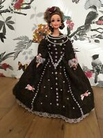 OOAK Handmade Doll Barbie Dress Medieval Elizabeth I Queen Tudor Collector Item