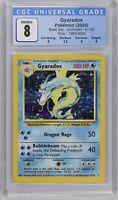 Pokemon Base Set Unlimited 1999-2000 4th Print Gyarados CGC 8 NM-Mint PSA