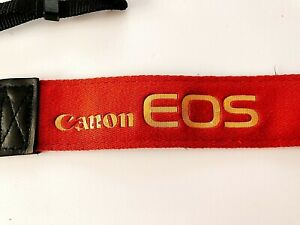 VINTAGE CANON CAMERA TERRACOTTA COLOR NECK STRAP Film Era from JAPAN #SC0231/8