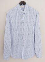 Men Emporio Armani Formal Shirt Blue CottonBlend 42 16.5 XMS134