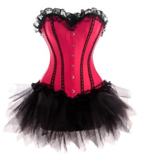 Women's Corset With Tutu In Pink Blue,Purple XS-3XL