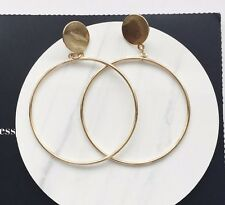 14K Gold Plated Hoop Dangle Drop Fashion Earrings 072