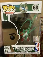 Giannis Antetokounmpo Signed Milwaukee Bucks Funko Pop Vinyl Figure #68- JSA COA
