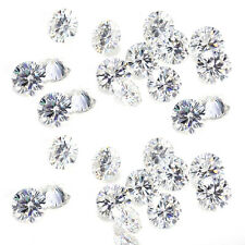 2.40ct VVS1-8pc/4.40-4.70mm H-I-J WHITE COLOR LOOSE ROUND MOISSANITE LOT 4 RING