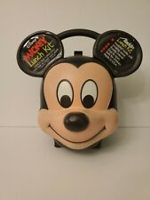 Vintage Disney Mickey Mouse Lunch Box Kit Aladdin. No thermos. Fast Ship!