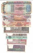 UNC SET of 7 Notes, Rs 100,50,20,10,5,2,&1, all signed by Dr Manmohan Singh,