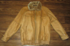 Vintage Zilli Mens Leather Jacket, Fur Collar, Fur Lining, Brown, Size M, EUC