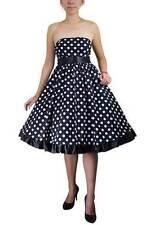 Polyester Polka Dot Midi Casual Dresses for Women