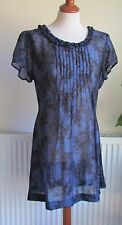 PHASE EIGHT Blue Floral  Dress Size 18